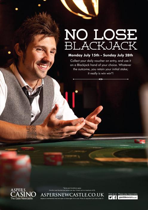 Aspers \'No lose blackjack\' promo