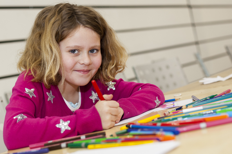 Half-term activities at BALTIC Centre for Contemporary Arts, Gateshead.
