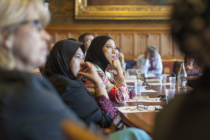 Image of Malaysian delegation at the House of Lords, by James Sebright.